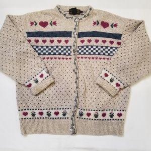 Vintage Eddie Bauer Cardigan Sweater Wool Large